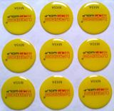Crystal Epoxy Sticker Yellow color